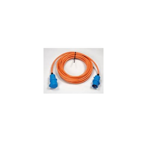 240V 10 metre caravan mains extension cable lead with plugs