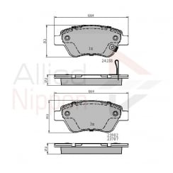 front brake pad set for Vauxhall Corsa D