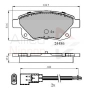 rear brake pad set for Ford Transit MK7 2006-2012