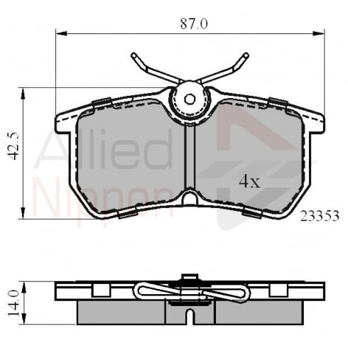 rear brake pads for Ford Fiesta 2005> Ford Focus 98-2004, Ford Puma 99-2000