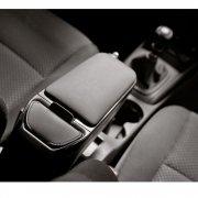 Armster 2 premium black car armrest for Fiat 500 2008-2015