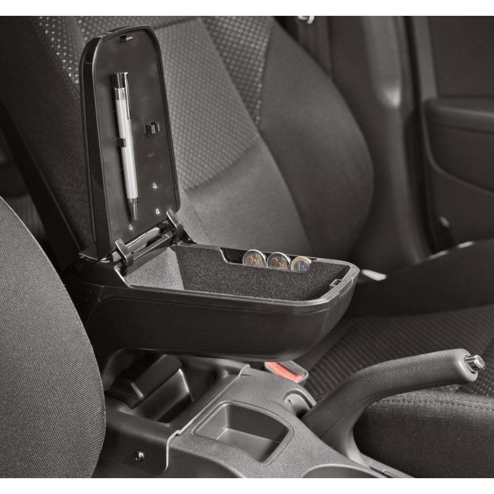 Armster 2 premium black car armrest for Honda Jazz 2008-2015