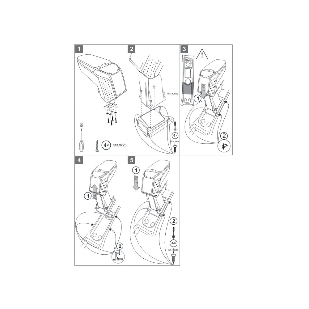 Armster 2 Premium Black Car Armrest For Vauxhall Meriva From Direct Transmission Diagrams Non Flexrail Type 2010gt