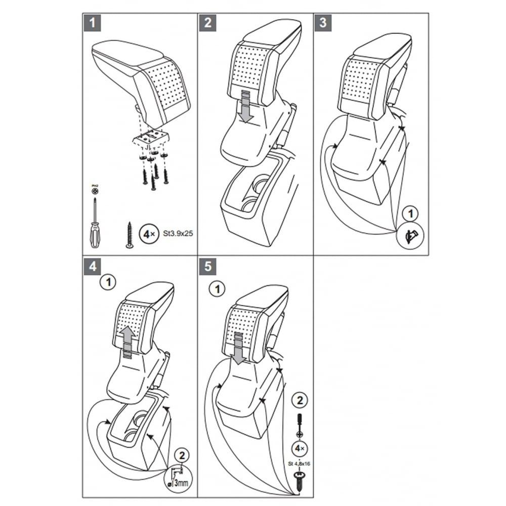armster standard car armrest for peugeot 208 2012>