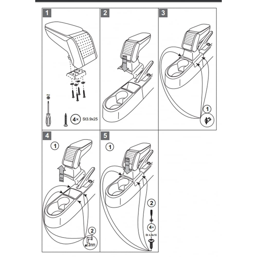 Armster Standard Car Armrest For Skoda Rapid 2013 Fuse Box Diagram 2013gt
