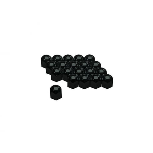 Autostyle 17mm Black wheel nut/bolt covers x20