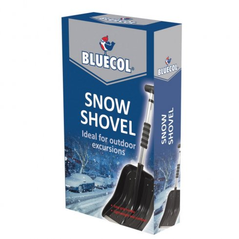 Compact, portable and extendable snow shovel for your car.