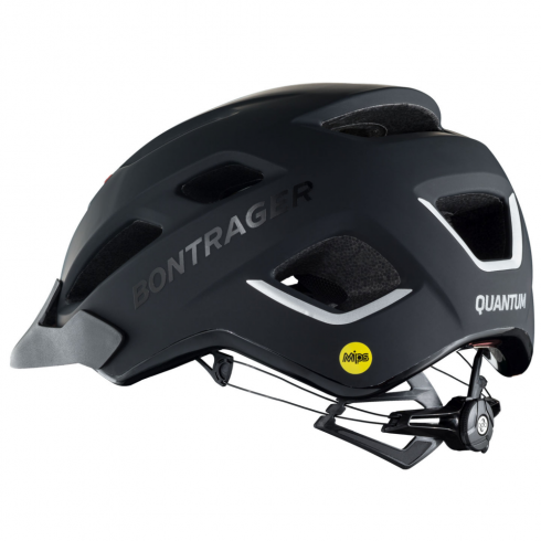 Bontrager Quantum black cycle helmet with multi-directional impact protection system (MIPS)