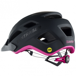 Quantum ladies black/pink cycle helmet with multi-directional impact protection system (MIPS)
