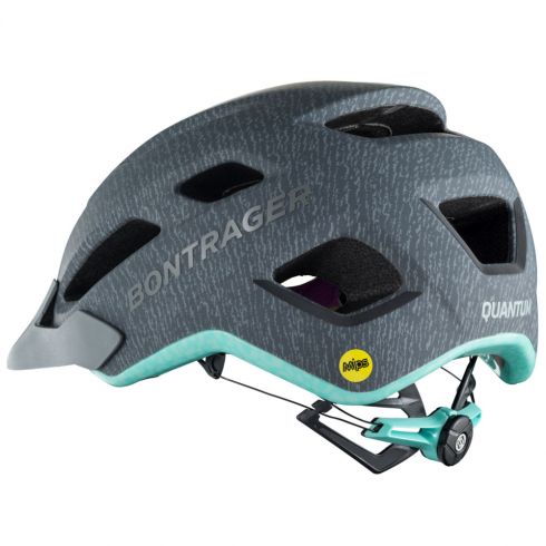 Bontrager Quantum ladies grey/mint cycle helmet with multi-directional impact protection system (MIPS)