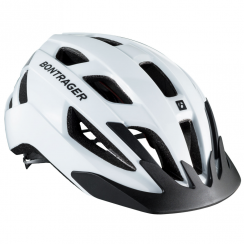 Solstice white cycle helmet
