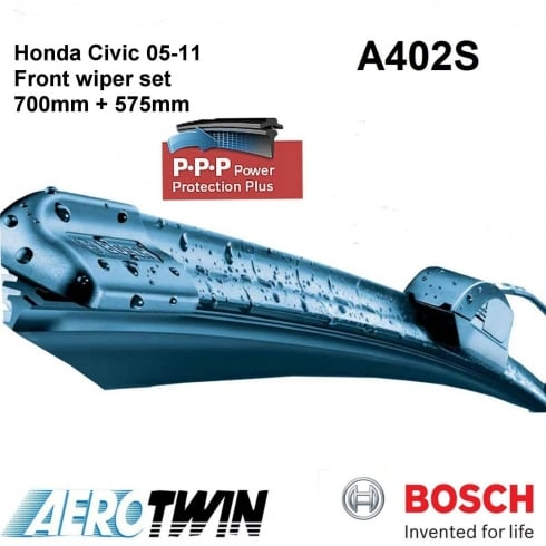 Aerotwin wiper blades for Honda Civic 2005 to 2011 (700mm and 575mm)