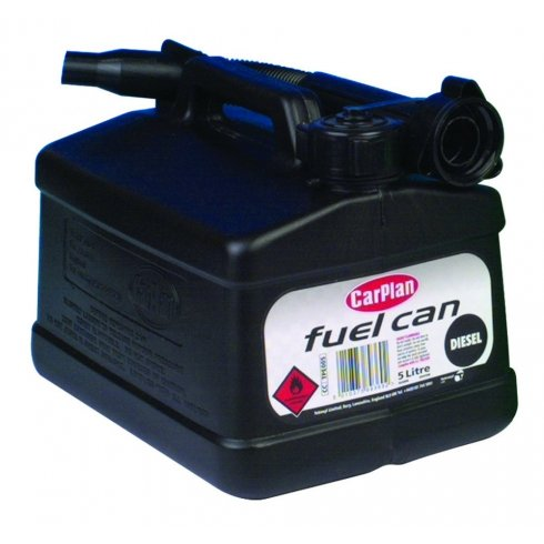 Carplan 5 litre fuel can (black for diesel fuel)