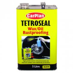 Tetroseal wax oil rustproofing protection - 5 litres BLACK