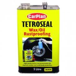 Tetroseal wax oil rustproofing protection - 5 litres BLACK