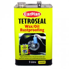 Tetroseal wax oil rustproofing protection - 5 litres CLEAR