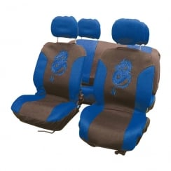 blue dragon 8 piece car seat cover set