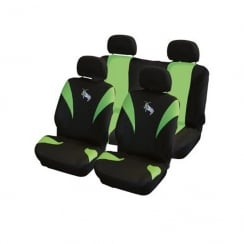 Grass Hopper 8 piece design green car seat cover set