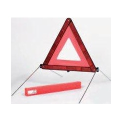 Compact, foldable emergency warning triangle with case for your car