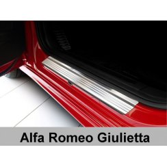 Stainless steel door sill plate protectors for Alfa Romeo Giulietta 2010>