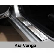 Stainless steel door sill plate protectors for Kia Venga 2009>