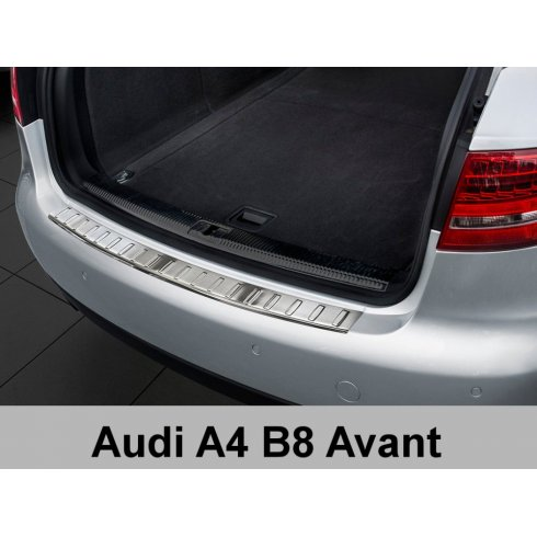 DCP Stainless steel rear bumper protector for Audi A4 B8 Avant 2008-2012