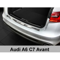 Stainless steel rear bumper protector for Audi A6 C7 4G Avant 2011>