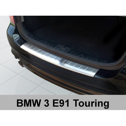 Stainless steel rear bumper protector for BMW 3 Series E91 touring 2008-2012