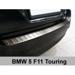 Stainless steel rear bumper protector for BMW 5 Series F11 Touring 2010>