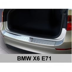 Stainless steel rear bumper protector for BMW X6 (E71) 2008-2012