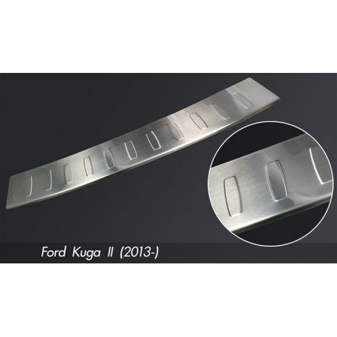 Stainless steel rear bumper protector for Ford Kuga II 2013>