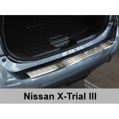 Stainless steel rear bumper protector for Nissan X Trail III 2014>