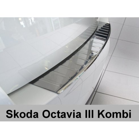 stainless steel rear bumper protector for Skoda Octavia III Estate 2013 to early 2017