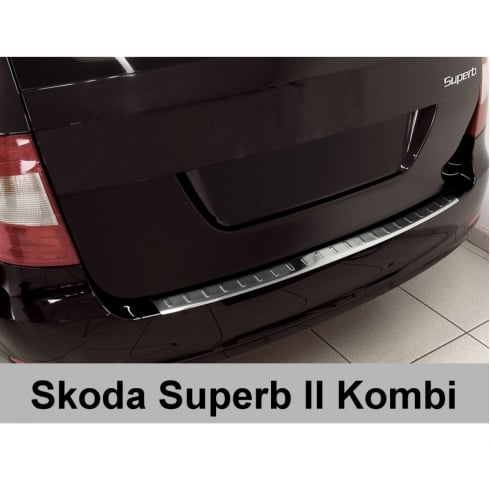 Stainless steel rear bumper protector for Skoda Superb Combi Estate 2009-2013