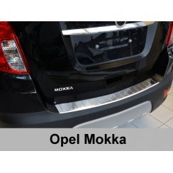 Stainless steel rear bumper protector for Vauxhall Mokka 2012>