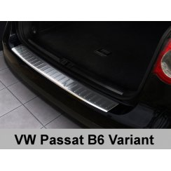Stainless steel rear bumper protector for VW Passat B6 Variant 2005-2010
