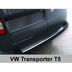 Stainless steel rear bumper protector for VW Transporter T5 Multivan, Caravelle, 2003>2012, FL 2012>