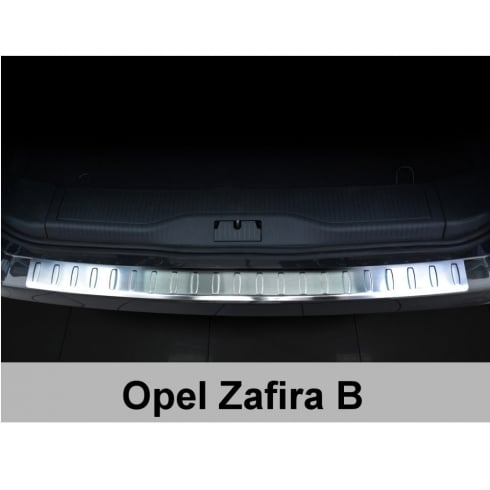 Stainless steel rear bumper protector for Zafira B 2010>