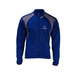 Deko Europa blue long sleeve jersey with zip size - XXL