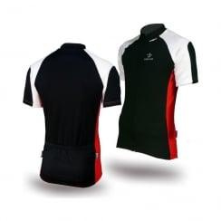 Deko Phobos black short sleeve cycling jersey with zip size - XL