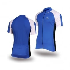 Deko Phobos Blue short sleeve cycling jersey with zip size - XL