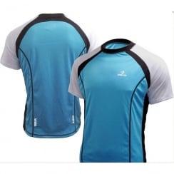 Deko Phobos blue short sleeve cycling jersey with zip size - XL
