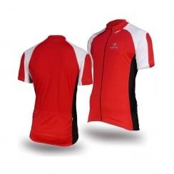 Deko Phobos Red short sleeve cycling jersey with zip size - Medium