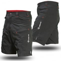 phobos Black and red Mountain bike Shorts (Small)