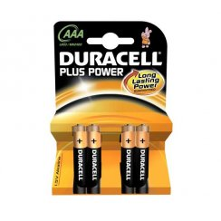 Duracell AAA batteries pack of four (MN2400)