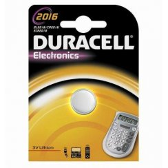 Duracell CR2016 3 volt watch or keyfob battery
