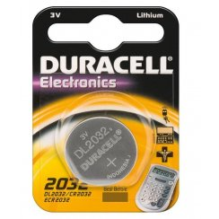 Duracell CR2032 3 volt watch or keyfob battery