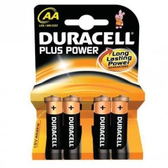 Duracell Plus Power AA batteries pack of four (MN1500/LR6)