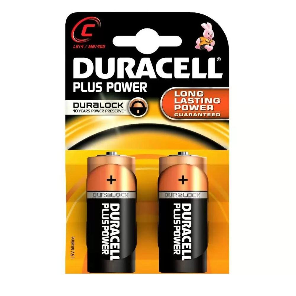 Duracell Plus Power C LR14 MN1400 Batteries (twin Pack