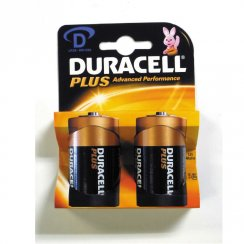 Duracell Plus Power LR20 MN1300 D batteries (twin pack)